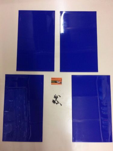 RALLY MUDFLAPS BLUE 3MM MSA WITH FITTINGS